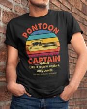 Best Funny Pontoon Captain Definition Pontoon Boat Classic T-Shirt apparel-classic-tshirt-lifestyle-26