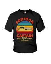 Best Funny Pontoon Captain Definition Pontoon Boat Youth T-Shirt thumbnail