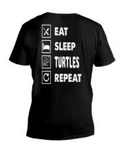 Eat-sleep-turtles-repeat V-Neck T-Shirt thumbnail