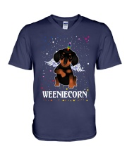 WEENIECORN V-Neck T-Shirt thumbnail