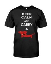 Keep Calm and Carry a Dachshund Classic T-Shirt thumbnail