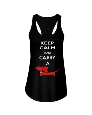 Keep Calm and Carry a Dachshund Ladies Flowy Tank thumbnail
