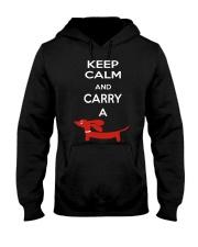 Keep Calm and Carry a Dachshund Hooded Sweatshirt thumbnail