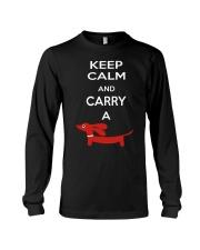 Keep Calm and Carry a Dachshund Long Sleeve Tee thumbnail
