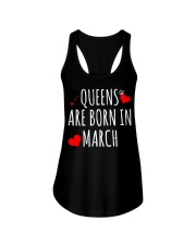 Queens are born in march t-shirts Ladies Flowy Tank thumbnail