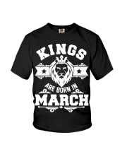 Kings are born in march t-shirts Youth T-Shirt thumbnail