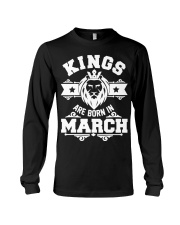 Kings are born in march t-shirts Long Sleeve Tee thumbnail