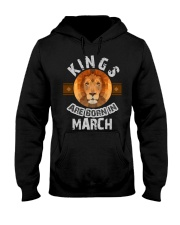 Kings are born in march t-shirts Hooded Sweatshirt thumbnail