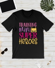 Training my super heroes Tee for teacher Classic T-Shirt lifestyle-mens-crewneck-front-17