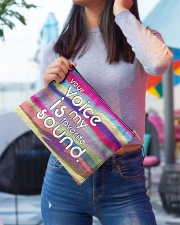 your voice is my favorite sound Accessory Pouch - Large aos-accessory-pouch-12-5x8-5-lifestyle-front-01