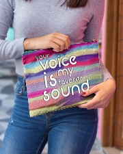 your voice is my favorite sound Accessory Pouch - Large aos-accessory-pouch-12-5x8-5-lifestyle-front-02