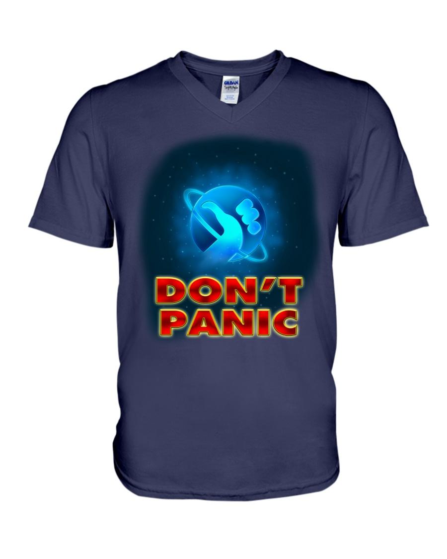 Don't Panic - Guida Galattica per Autostoppisti V-Neck T-Shirt