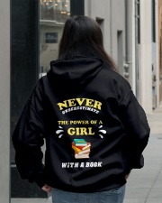 Never underestimate the power of a Girl Hooded Sweatshirt lifestyle-unisex-hoodie-back-2