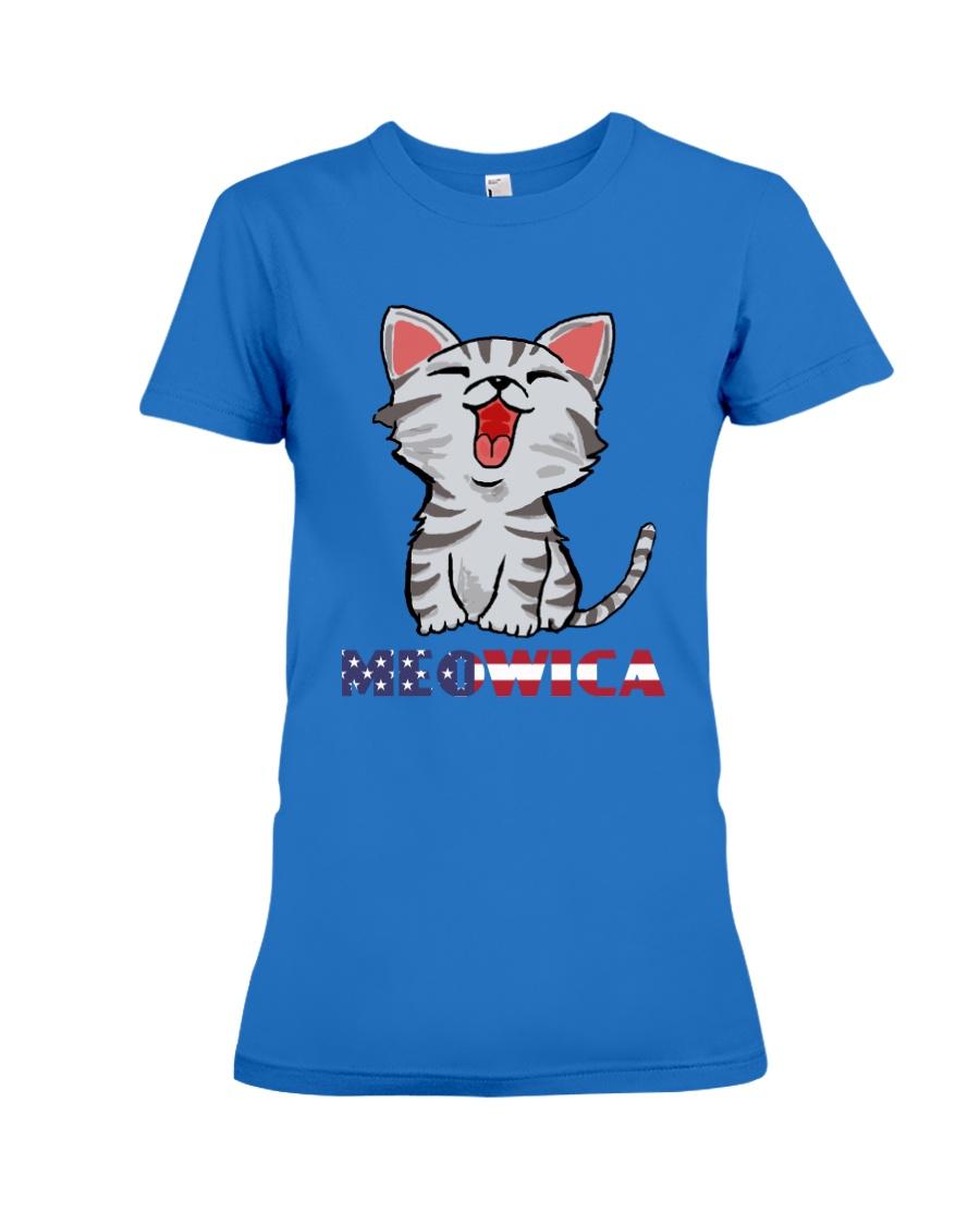 Women's Funny Patriotic American Flag Tanks Shirt Premium Fit Ladies Tee