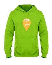 Love Family Home Is Here Hooded Sweatshirt front