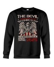 The devil whispered to me I am coming to you Crewneck Sweatshirt thumbnail