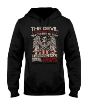 The devil whispered to me I am coming to you Hooded Sweatshirt thumbnail