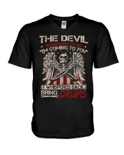 The devil whispered to me I am coming to you V-Neck T-Shirt thumbnail