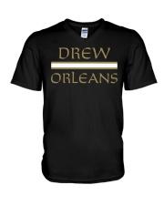 drew orleans shirt- Drew Brees inspired V-Neck T-Shirt thumbnail