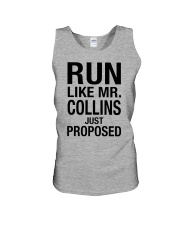Run Like Mr Collins Just Proposed Shirt Unisex Tank front