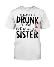 If lost or drunk-white Classic T-Shirt thumbnail