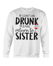 If lost or drunk-white Crewneck Sweatshirt tile