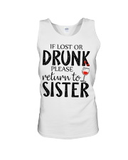 If lost or drunk-white Unisex Tank thumbnail