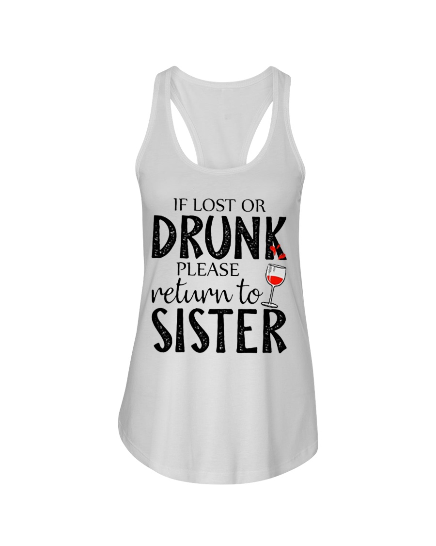 If lost or drunk-white Ladies Flowy Tank