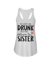 If lost or drunk-white Ladies Flowy Tank front