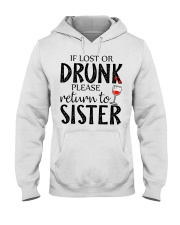 If lost or drunk-white Hooded Sweatshirt thumbnail