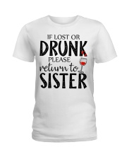 If lost or drunk-white Ladies T-Shirt thumbnail