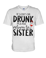 If lost or drunk-white V-Neck T-Shirt thumbnail