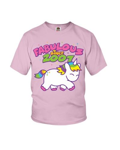 Fabulous Since 2007 Birthday Unicorn T-Shirt