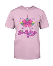 Cute Birthday Girl Unicorn T-Shirt Classic T-Shirt thumbnail