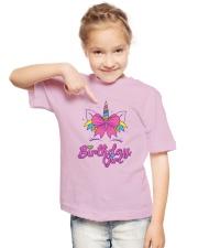 Cute Birthday Girl Unicorn T-Shirt Youth T-Shirt lifestyle-youth-tshirt-front-2