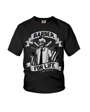 Barber For Life Shave and Cut BW T-Shirt Youth T-Shirt thumbnail