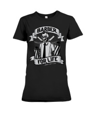 Barber For Life Shave and Cut BW T-Shirt Premium Fit Ladies Tee thumbnail
