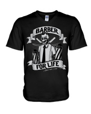 Barber For Life Shave and Cut BW T-Shirt V-Neck T-Shirt thumbnail
