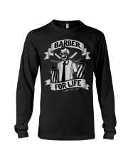 Barber For Life Shave and Cut BW T-Shirt Long Sleeve Tee thumbnail