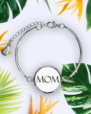 Mom is wow Metallic Circle Bracelet aos-bracelet-metal-front-lifestyle-7