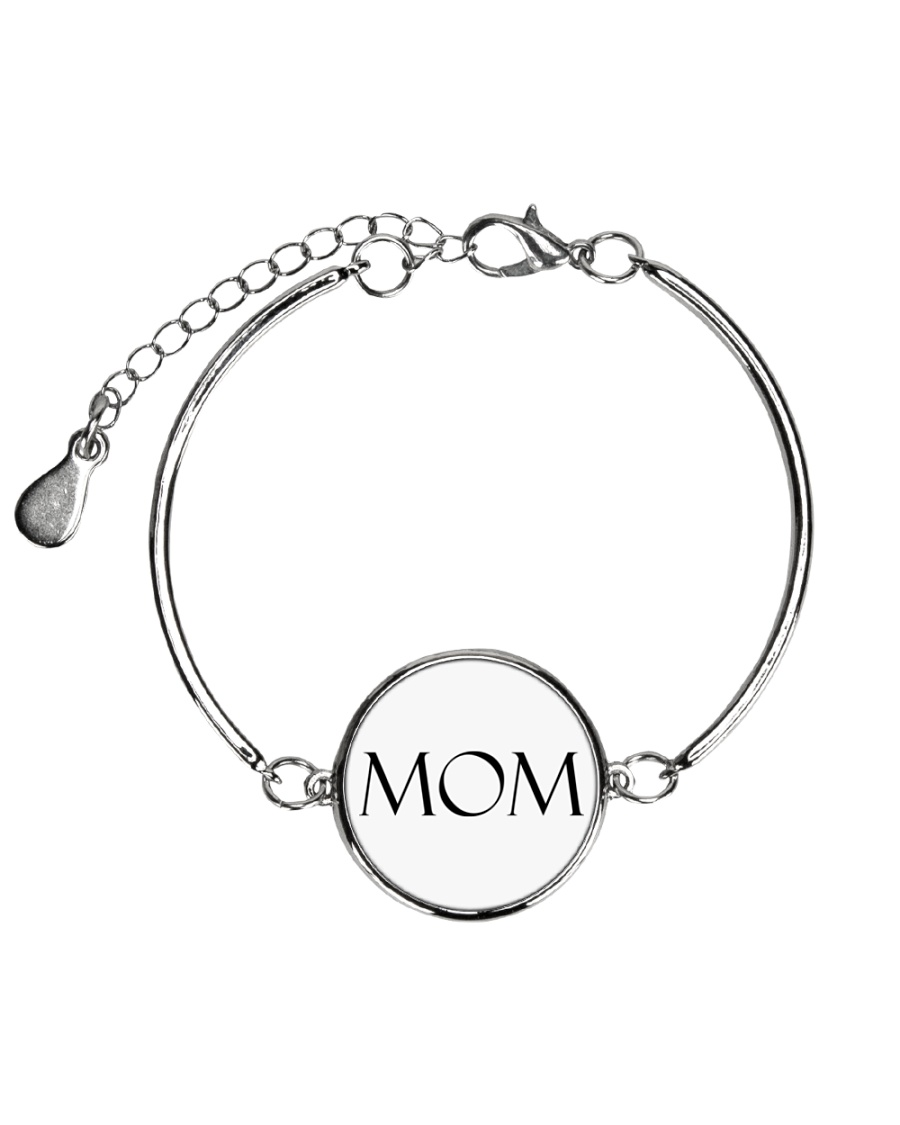 Mom is wow Metallic Circle Bracelet