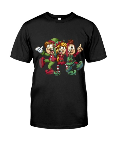 Funny Elf Family Christmas Tee Cool Gift Men Women
