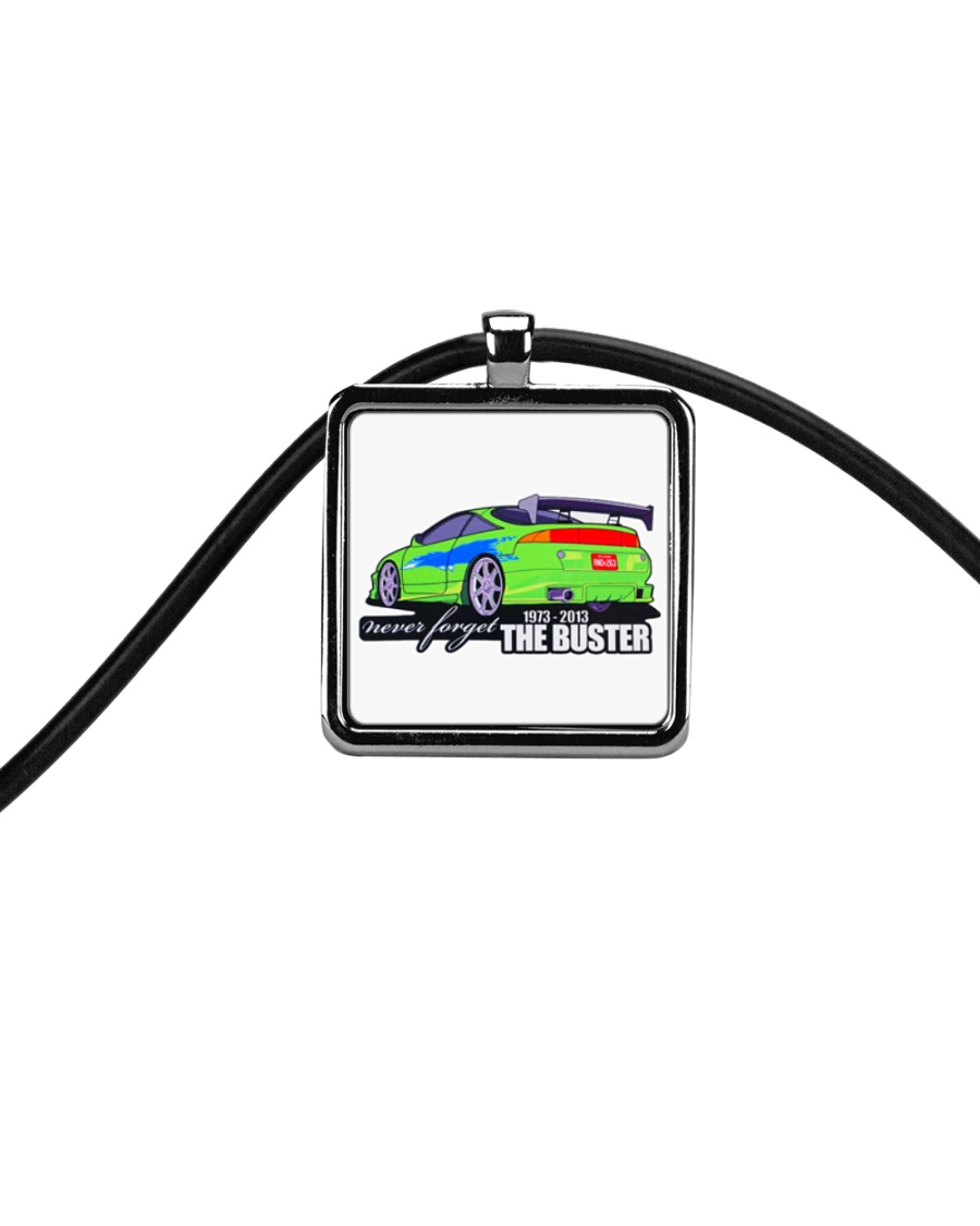Remember TH3 Buster Cord Rectangle Necklace