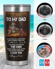 TO MY DAD 20oz Tumbler aos-20oz-tumbler-lifestyle-front-44