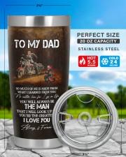 TO MY DAD 20oz Tumbler aos-20oz-tumbler-lifestyle-front-48