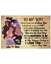 TO MY WIFE 36x24 Poster front