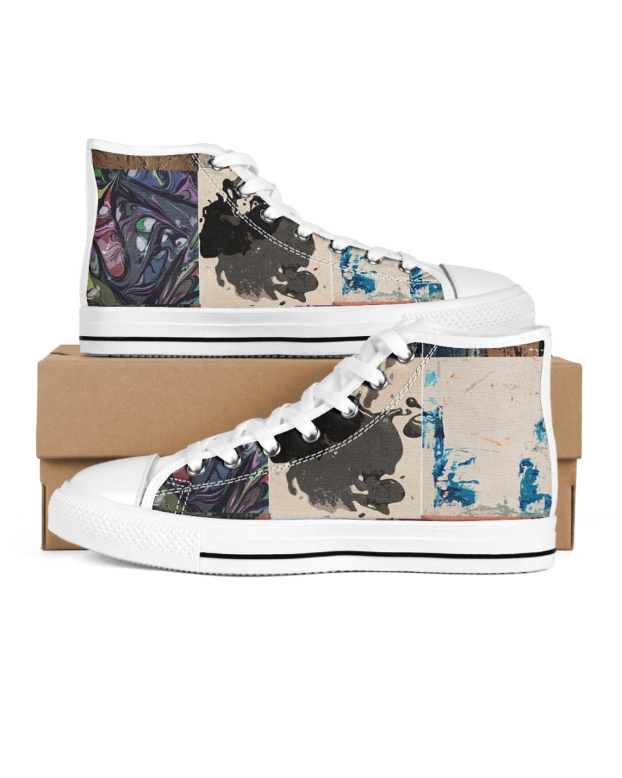 the Patch Women's High Top White Shoes