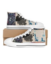 the Patch Women's High Top White Shoes outside-right-inside-right