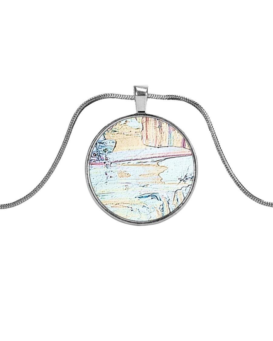NightLounge Metallic Circle Necklace