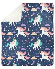 "unicorn pattern Sherpa Fleece Blanket - 50"" x 60"" thumbnail"
